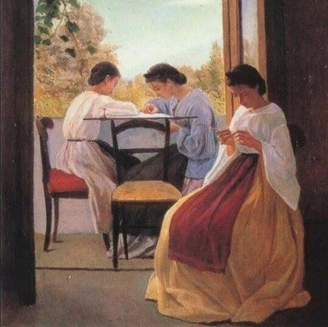 A. Cecioni . Le ricamatrici 1866