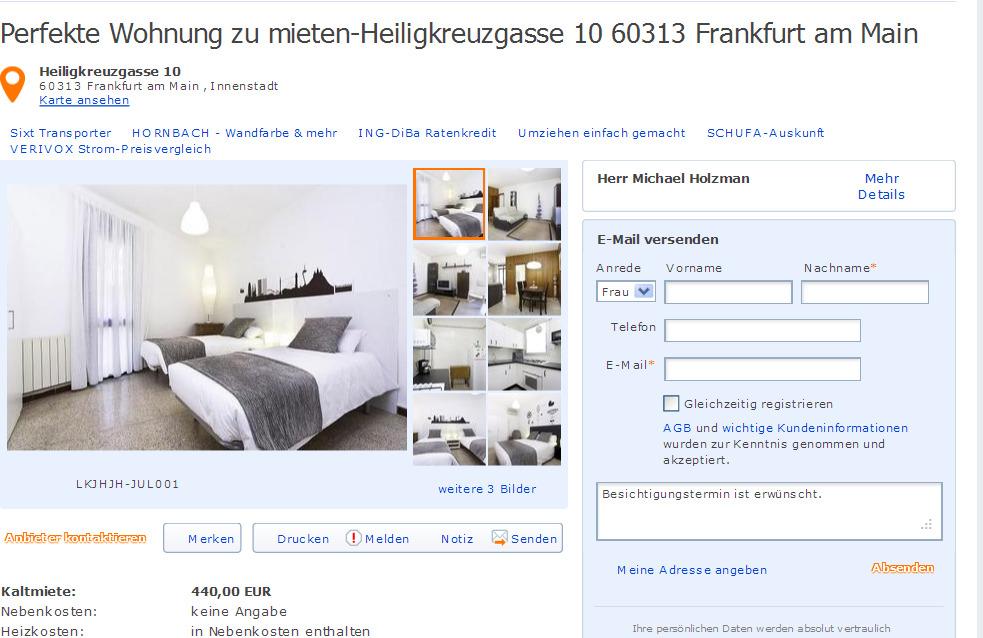 Frankfurt Wohnung Mieten