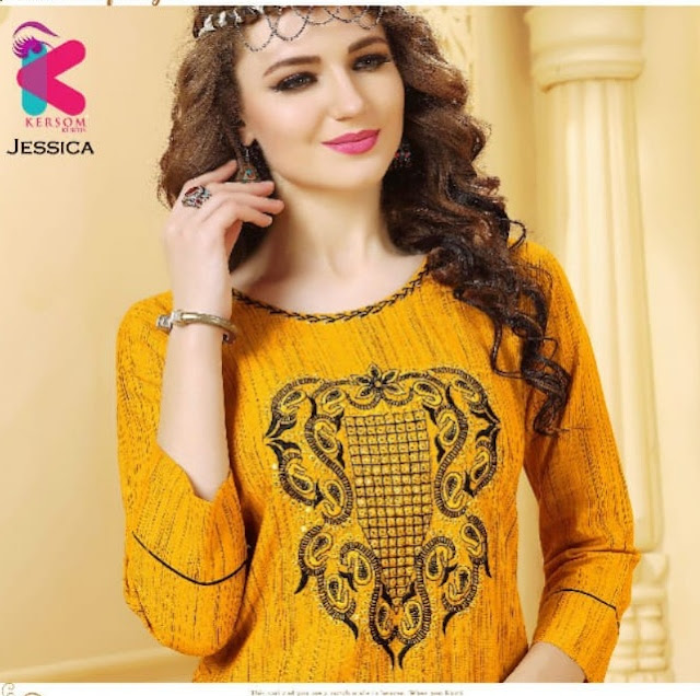 Kersom Jessica Rayon Kurtis With palazzo Buy wholesale