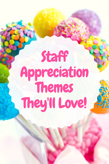 Look no further for really awesome teacher appreciation themes for your next event! From luncheons to treat bars and more, there's a theme to fit your PTA / PTO needs!
