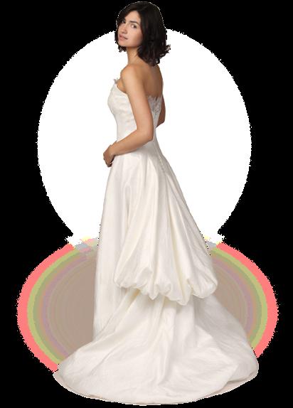 abito da sposa Claraluna 2014 e nozze a tema cinema