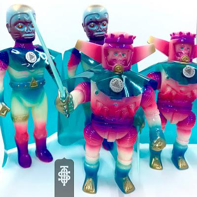 Designer Con 2017 Exclusive 2 Vinyl Figure Battle Sets by CAST x Kenth Toy Works x Connell Little