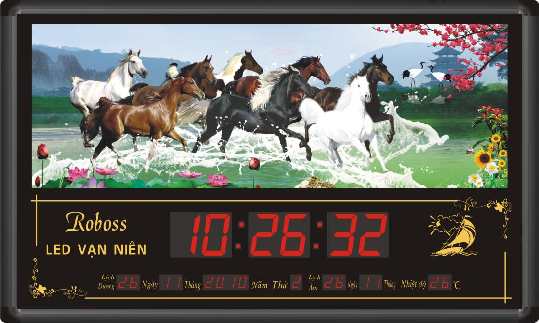 Đồng hồ treo tường điện tử có lịch vạn niên