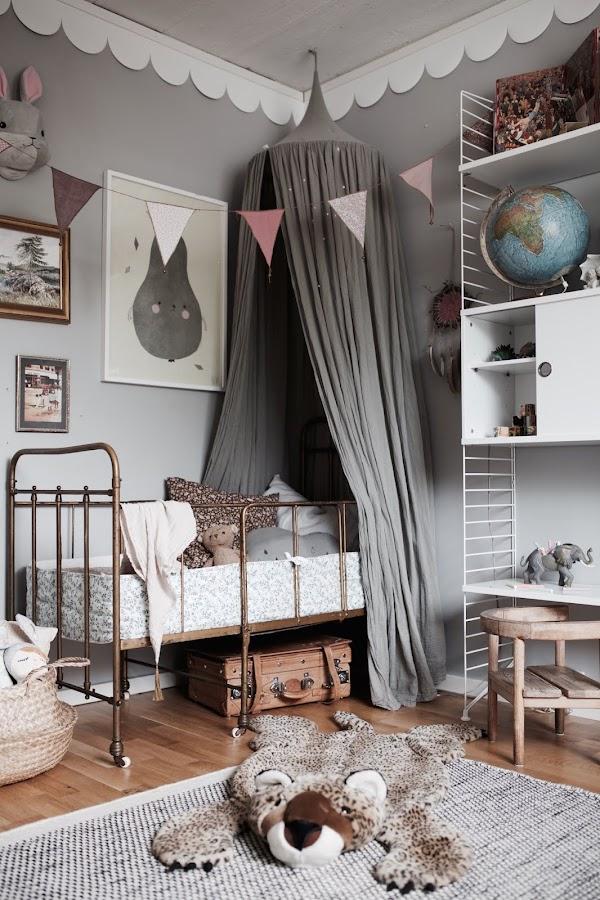 Las claves para una habitación infantil vintage