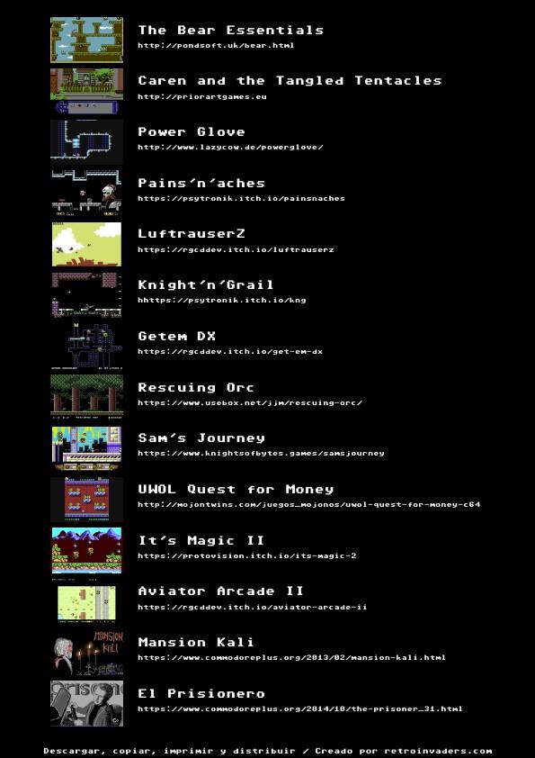 Retroinvaders/Commodore manía: Carteles de juegos neo-retro