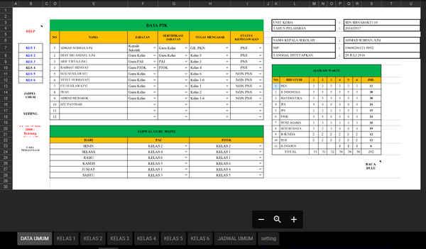 6 Aplikasi Membuat Jadwal Pelajaran Gratis Format Excel