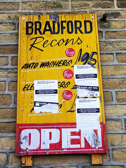 urban photography, old sign, urban decay, pink, yellow, black, white, urban photo, Sam Freek,