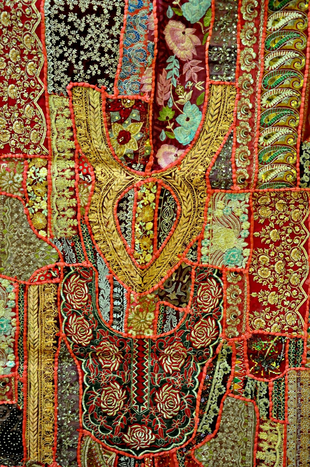 Jaipur Handloom Indian Vintage Handmade Patchwork Tapestry Wall Hanging Embroidered Table