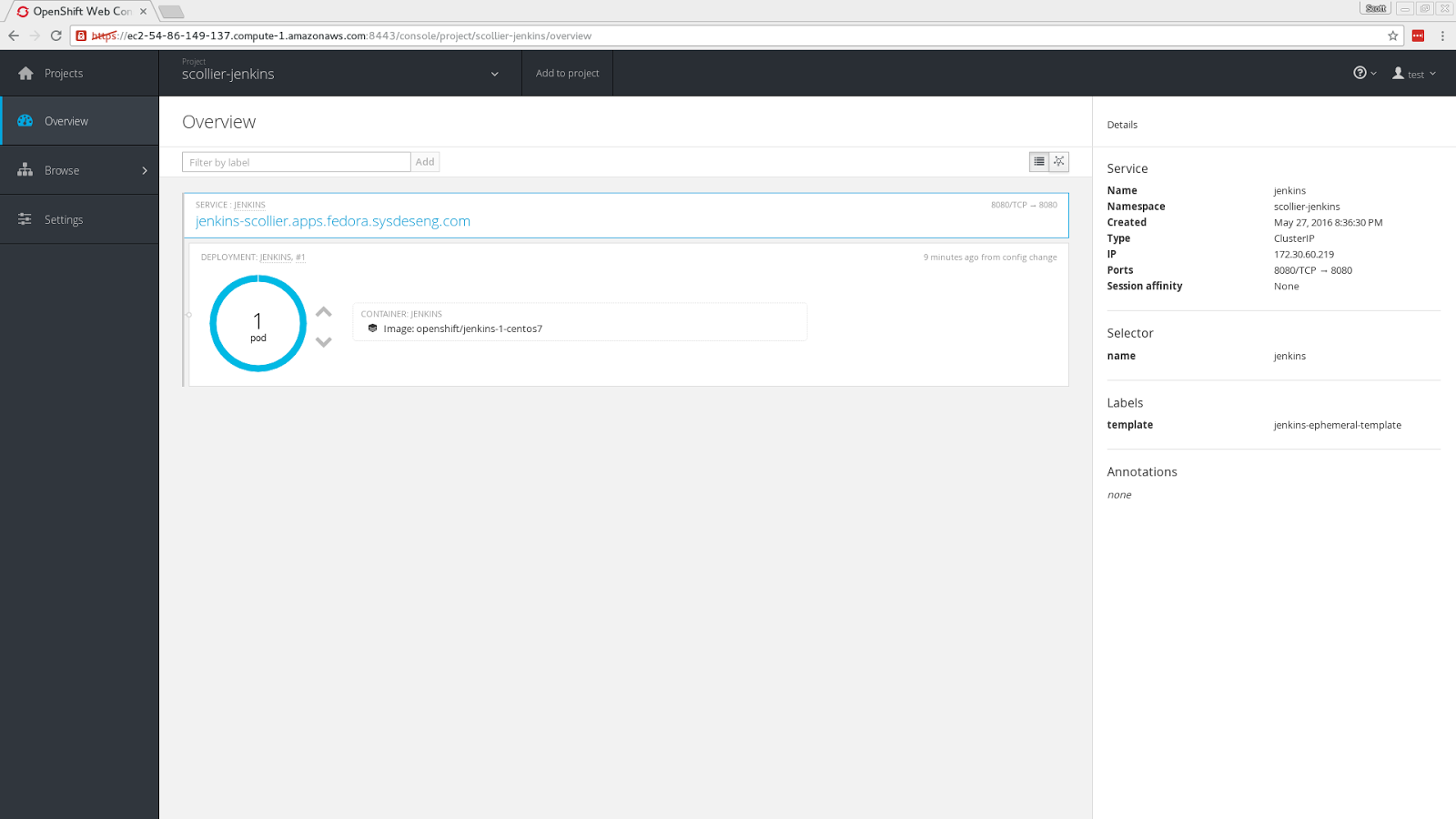 Notes on tech, mostly    : OpenShift Origin on Fedora 24 on AWS - Wow