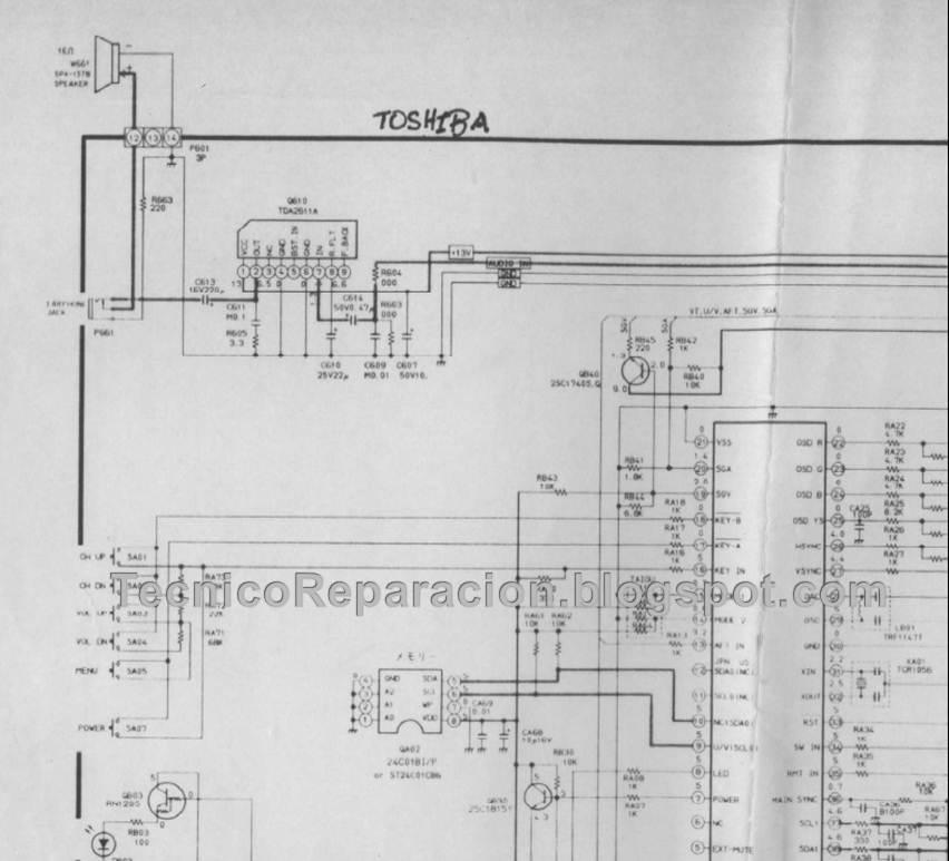 Cs20e26 Diagrama Toshiba Chasis Tac 9500
