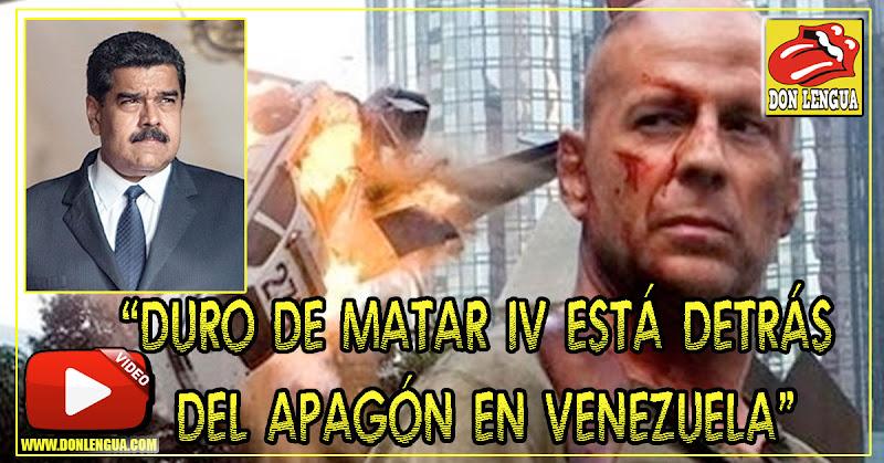 Duro de Matar IV fue aplicado en Venezuela utilizando un camión de hackeo para el apagón