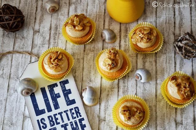 Karamell-Orangen-Cupcakes