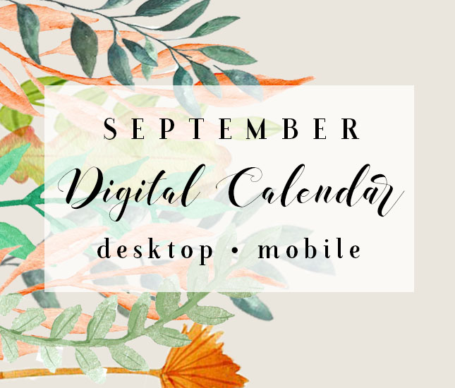 september digital calendar background