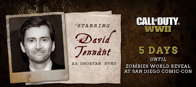 David Tennant Call Of Duty: WWII Zombie Mode
