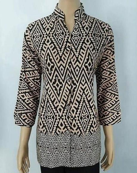 Contoh Model Baju Batik Atasan