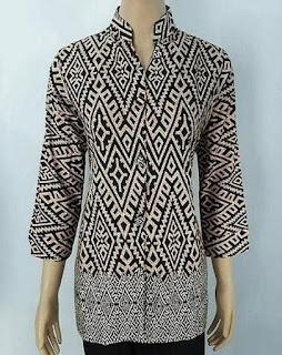 Model Baju Batik Guru Atasan
