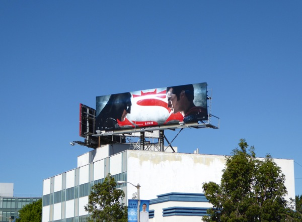 Batman v Superman movie billboard