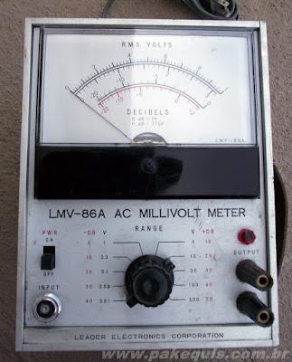 Milivoltímetro Leader LMV-86A