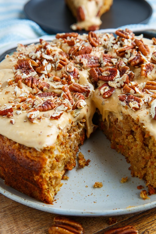 Carrot Cake with Dulce de Leche Cream Cheese Frosting