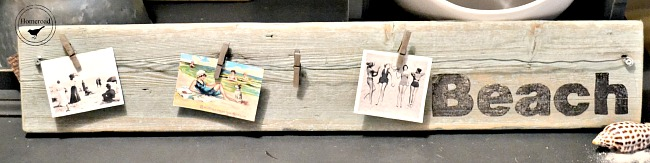 Rustic and Repurposed Driftwood Beach Photo Display