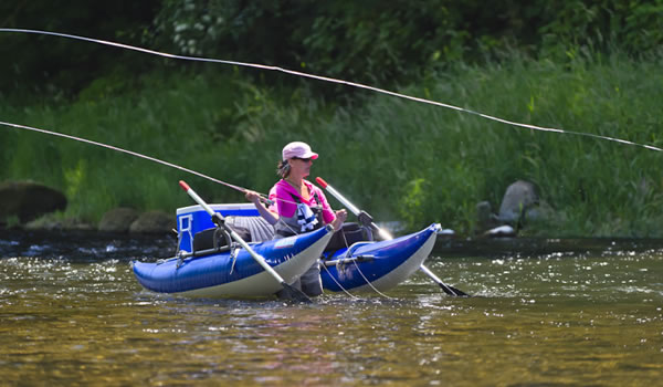 Gorge fly shop blog fly fishing pontoon boats a buyer 39 s for Inflatable fly fishing boats