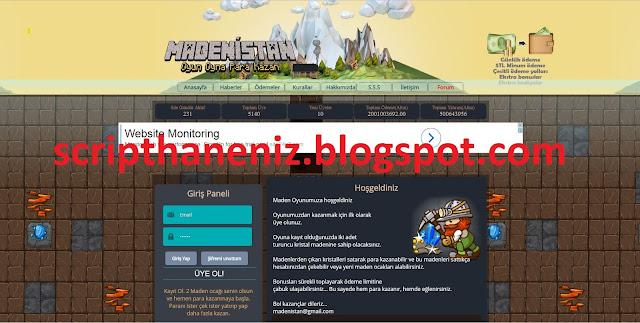 Madenistan Online Oyun Scripti İndir 2017