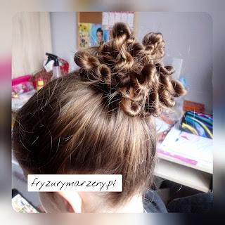 kok na swieta,swiateczny kok ,fryzura na swieta