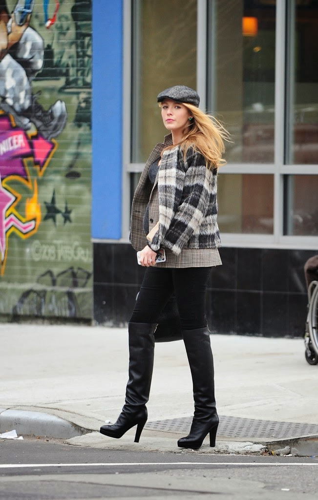 Street Style: Blake Lively: a pregnant british-chic for an exit without Ryan!