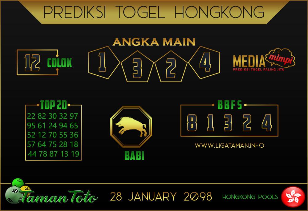 Prediksi Togel HONGKONG TAMAN TOTO 28 JANUARI 2019