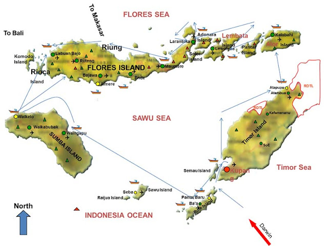 Map Off Sail Komodo 2013