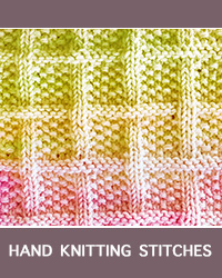 Learn Lattice With Seed Stitch Knit Purl Pattern with our easy to follow instructions at HandKnittingStitches.com