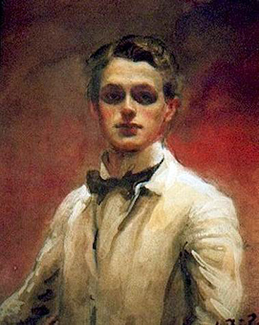 William Bruce Ellis Ranken,  Self Portrait, Portraits of Painters, William Bruce Ellis, Fine arts, Portraits of painters blog, Paintings of William Bruce Ellis, Painter  William Bruce Ellis