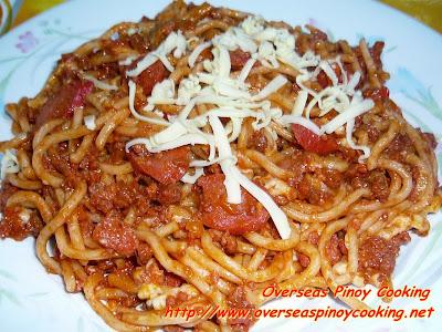 Pinoy Sweet Spaghetti