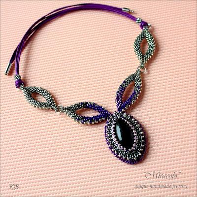 naszyjnik z ametystem, amethist necklace
