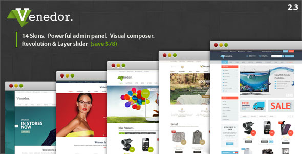 Free Download Venedor V2.3 WooCommerce Wordpress Theme
