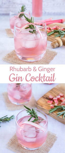 Rhubarb and Ginger Gin Cocktail
