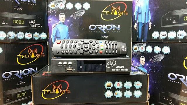 TELEISAT ORION HD 3 TURNERS NOVA ATUALIZAÇÃO E ARQUIVO BISS POWERVU SOFTKEYS - 27/04/2016