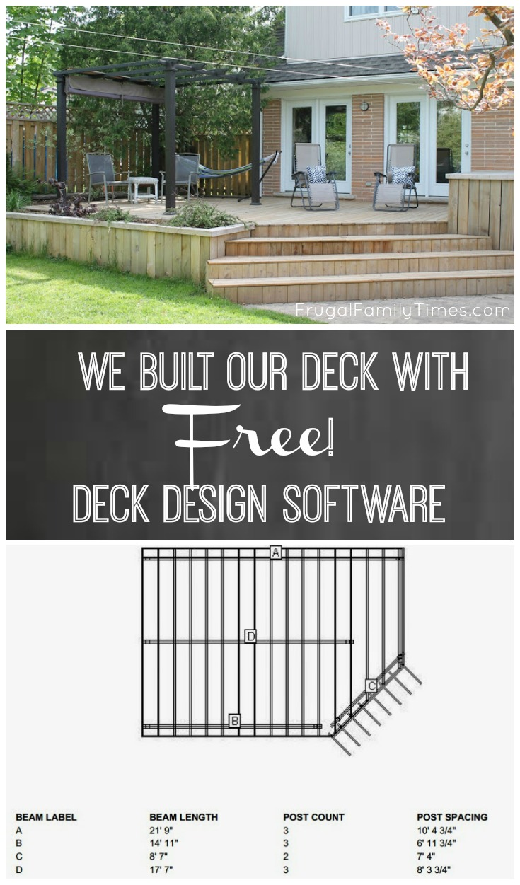 We built a deck free online deck design software frugal family i found lowes deck design software and my face lit up lowes deck designer is a free deck planning tool that produces a free plan and a free shopping list baanklon Gallery