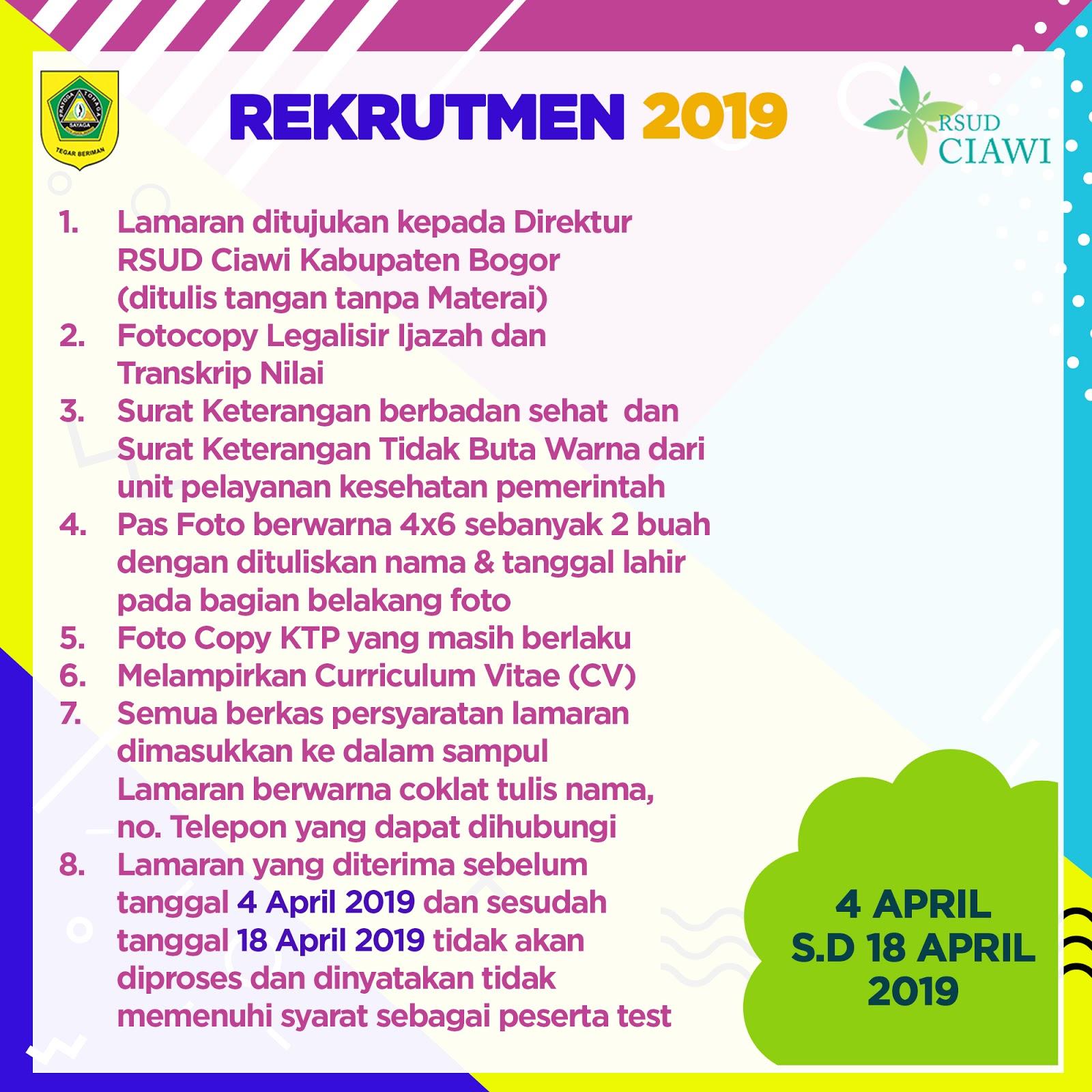 Lowongan Kerja Lowongan Kerja Rsud Ciawi Bogor April 2019