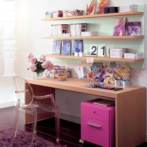 Decorando home office em estilo romântico