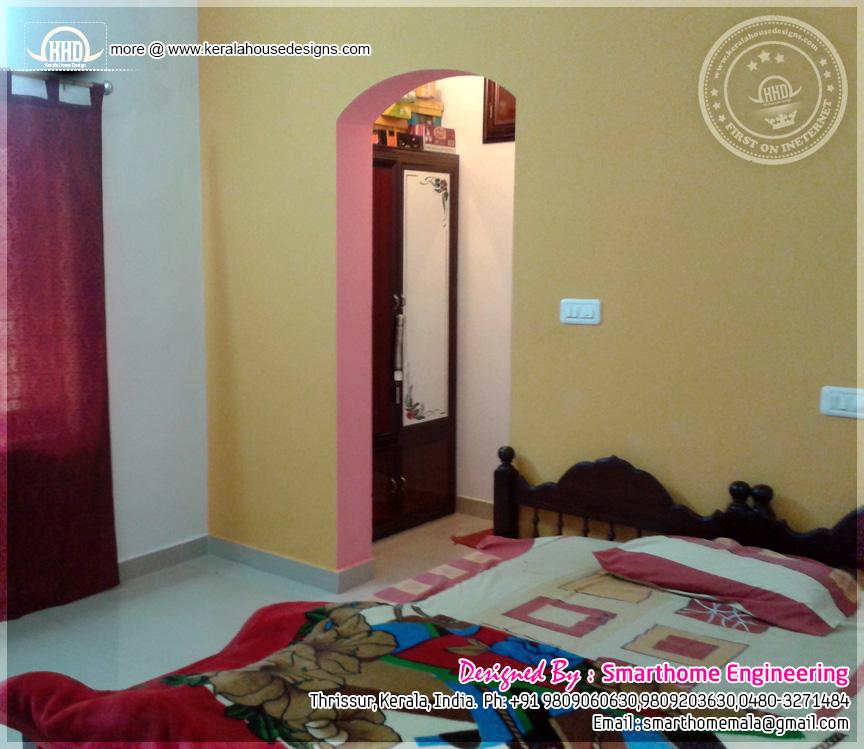 Kerala Bedroom Interior Design Colour For Bedroom Two Bed Bedroom Bedroom Wallpaper Colours: 1680 Sq-ft 3 Bedroom Single Floor House