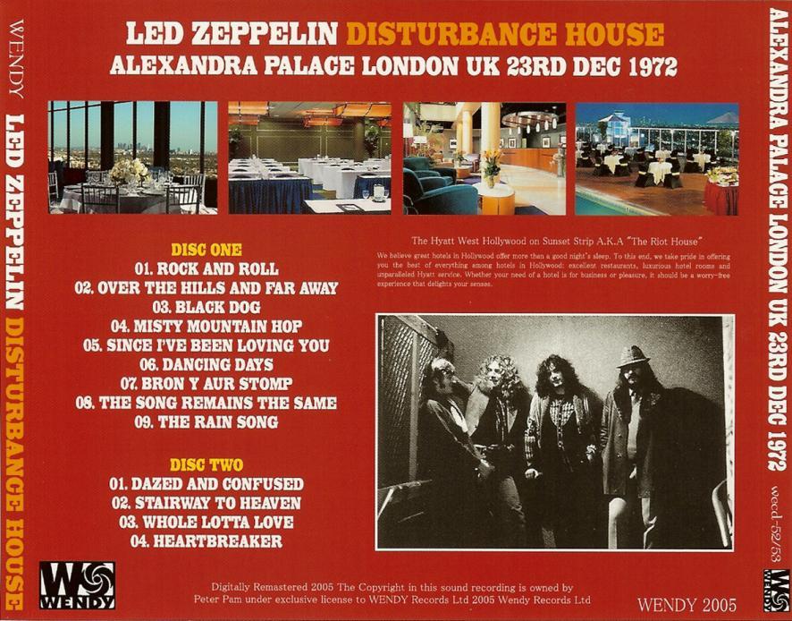 T U B E Led Zeppelin 1972 12 23 London Uk Aud Flac