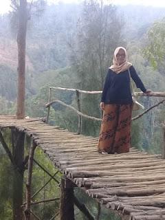 Jembatan Kayu di Coban Bidadari