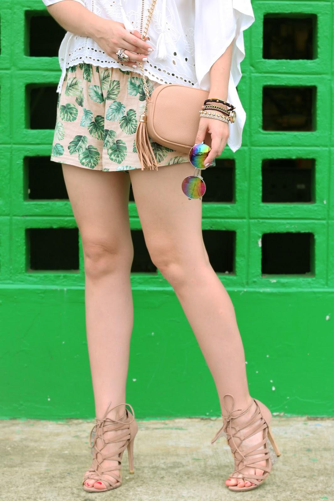 Sexy beige gladiator heels