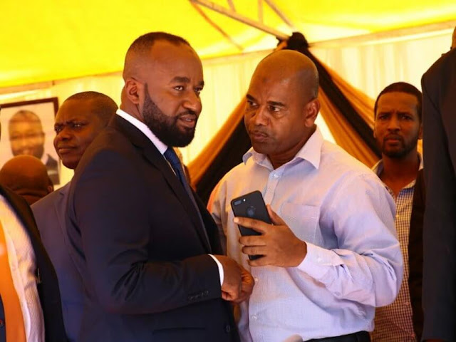 Mombasa Governor Ali Joho with Kisauni MP Ali Mbogo. PHOTO | FILE