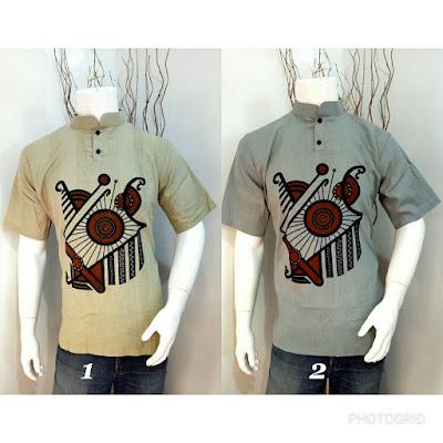 Baju Batik Koko Etnic kode B