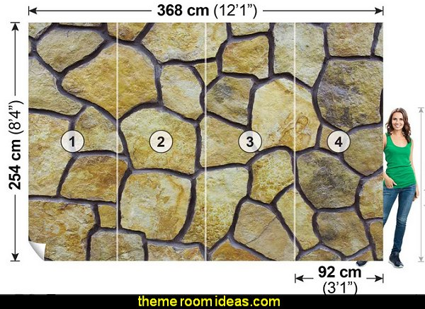 Beige Stone Mosaic Wallpaper Mural  dinosaur theme bedrooms - dinosaur decor - decorating bedrooms dinosaur theme - dinosaur room decor - dinosaur wall murals - dinosaur wall decals - life size dinosaur props - dinosaur duvet