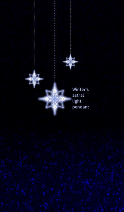 Winter's astral light pendant