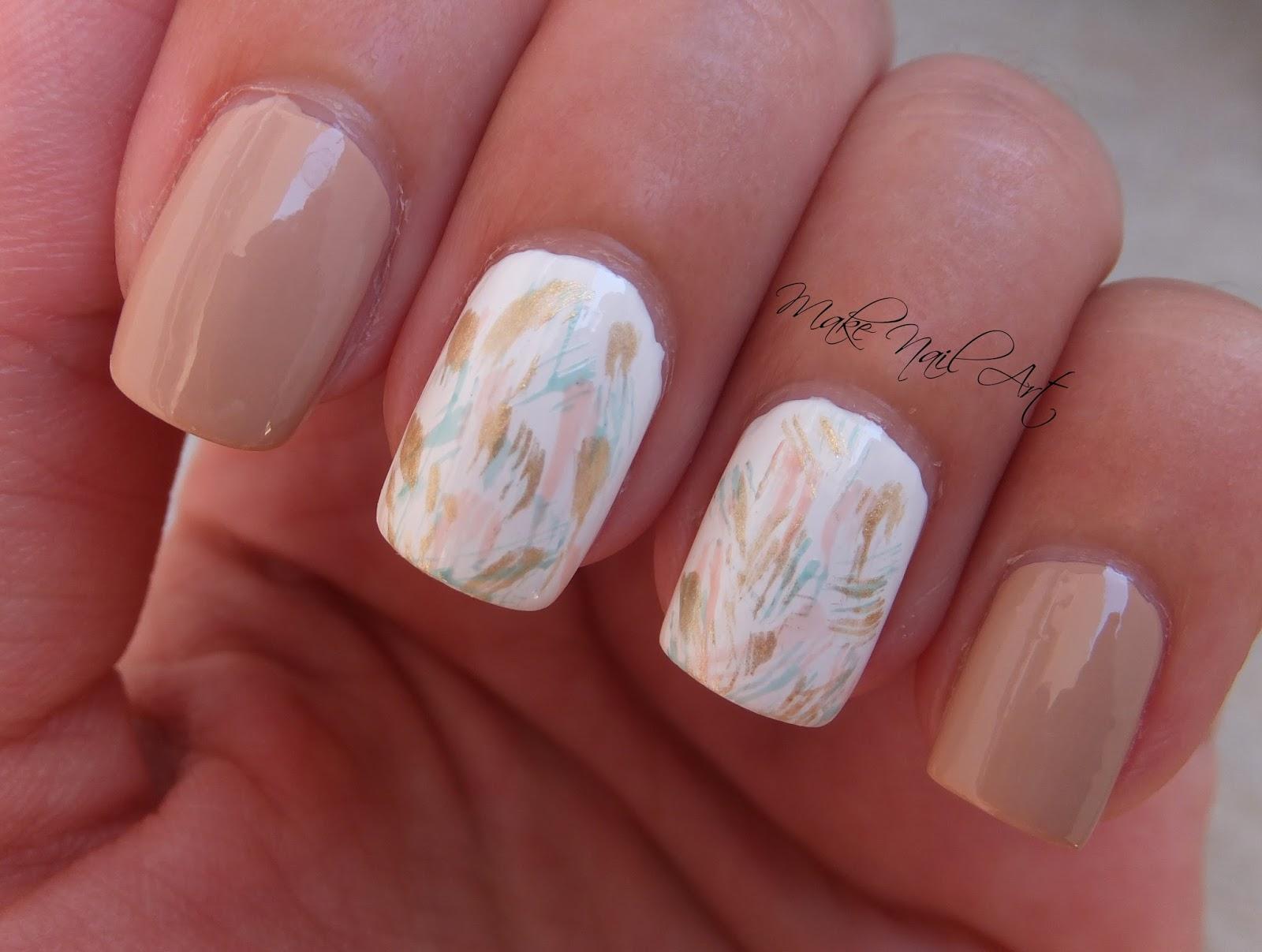 Make Nail Art: Pastel Brush Strokes Nail Art Design Tutorial