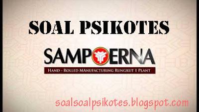 Contoh Soal Psikotes/Psikologi PT HM Sampoerna Tbk + Wawancara Kerja